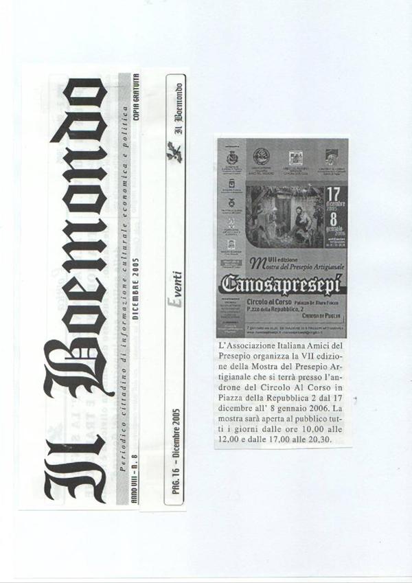 DICONO DI NOI CANOSAPRESEPI 10