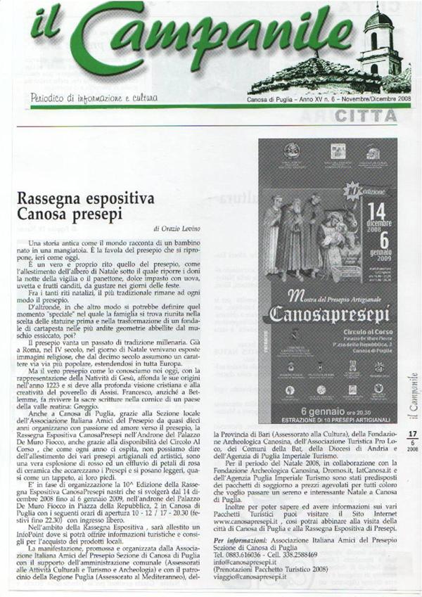DICONO DI NOI CANOSAPRESEPI 28