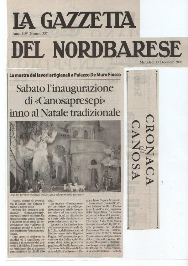 DICONO DI NOI CANOSAPRESEPI 36