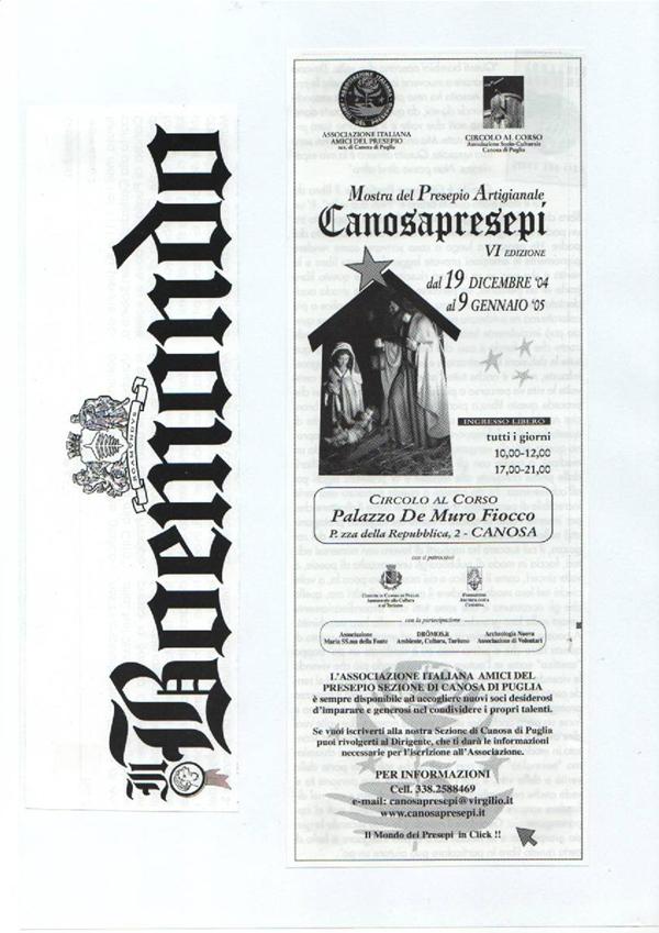 DICONO DI NOI CANOSAPRESEPI 9