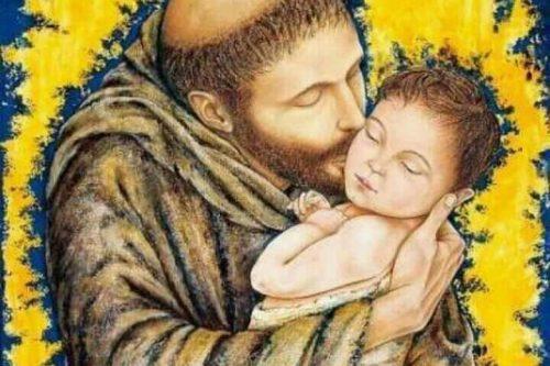 san francesco bacia il bambino gesù